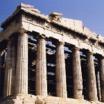 Many of the proportions of the Parthenon are alleged to exhibit the Golden Ratio, a proportion believed to be aesthetically pleasing.