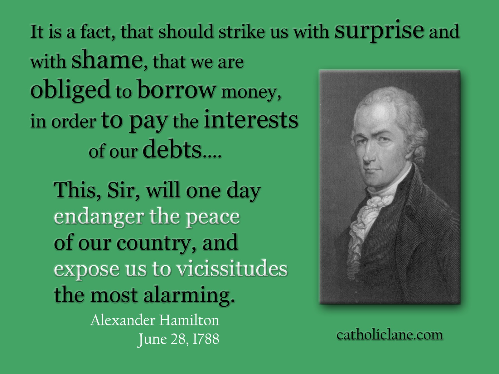 alexander hamilton quotes on banks