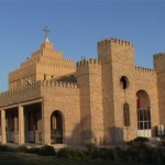 A church in Ankawa, Erbil, capital of Kurdistan Region, Iraq