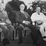 Chiang Kai-shek, Franklin D. Roosevelt, and Winston Churchill at the Cairo Conference November 25, 1943