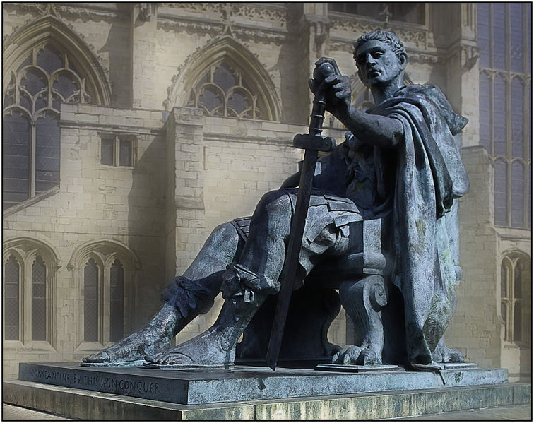 Constantine as depicted in York, England