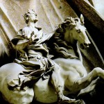 Constantine statue in portico of St. Peter's Rome, cropped