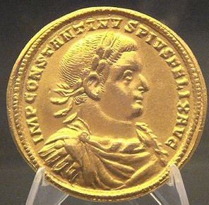 Constantius. Medallion minted in 296