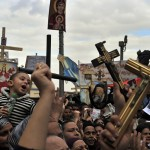 Egyptian Coptic Christians demonstrate in Cairo in March