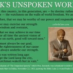JFK's Unspoken Words