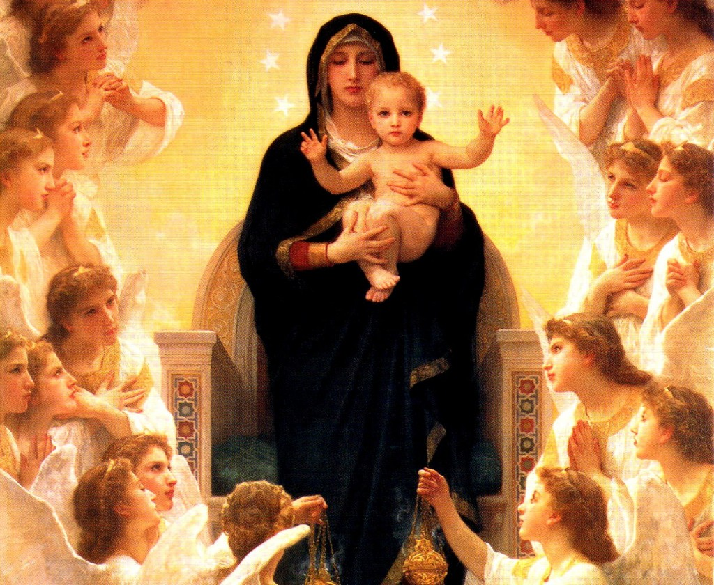 Mary with Jesus and Angels