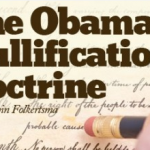 Obama Nullification Doctrine