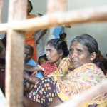 Orissa, India, internal refugees in a displacement camp