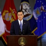Mitt Romney, Republican candidate for president, speaks at the Virginia Military Institute on Oct. 8, 2012.