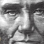 Abraham Lincoln - Etching of Face - Photo November 8, 1863 - USPS Bicentennial Stamp