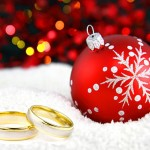 Wedding Rings and Christmas Tree Ornament