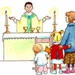 children at Mass