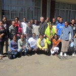 Fr. West with students of Ethiopia for Life
