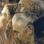 Detail from Norman Rockwell's Freedom of Worship, Saturday Evening Post, February 27, 1943