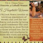 Ode to Feminine Genius: A Hospitable Woman