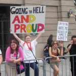 Gays protesting Dr. James Dobson &amp; the &quot;Mayday for Marriage&quot; rally, Seattle, 2004